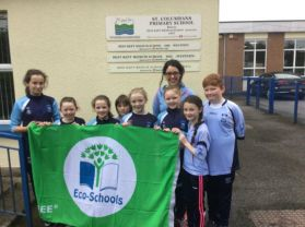 Green flag for St Columban's