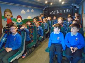 Water bus comes to St Columban's